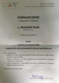 chemsex psycholog seksuolog dominik haak lgbt warszawa